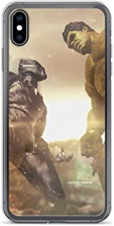 Hulk Avengers End Game Superhero Vs Black Panther Anti-Scratch Shockproof Case for iPhone X/XS