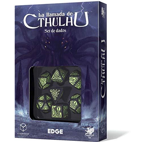 Edge Entertainment- Set de Dados La Llamada de Cthulhu (Asmodee, EECHCT00), Color