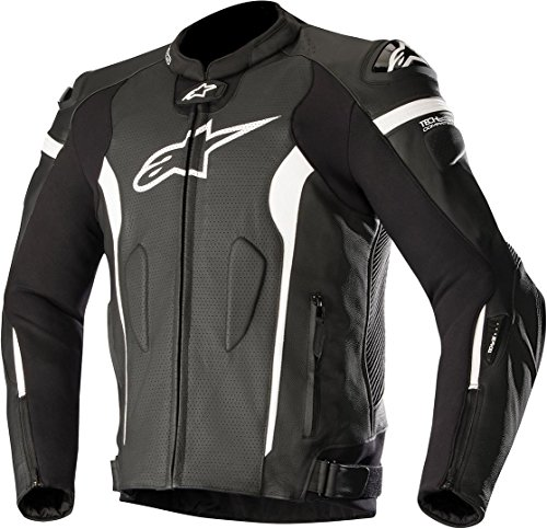 Alpinestars Motorradjacke Missile Tech Air Comp, BLACK WHITE AIR, 52