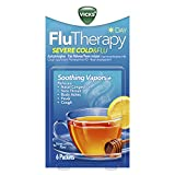 Vicks FluTherapy Severe Cold & Flu, Daytime, Hot Drink, Soothing Vapors, Relieves Nasal Congestion,...