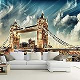 Cafetería Personalizar cualquier tamaño Oficina Den Sala de estar Telón de fondo Murales de pared Mural de arte europeo 3D Estéreo Papel tapiz Puente de Londres-1