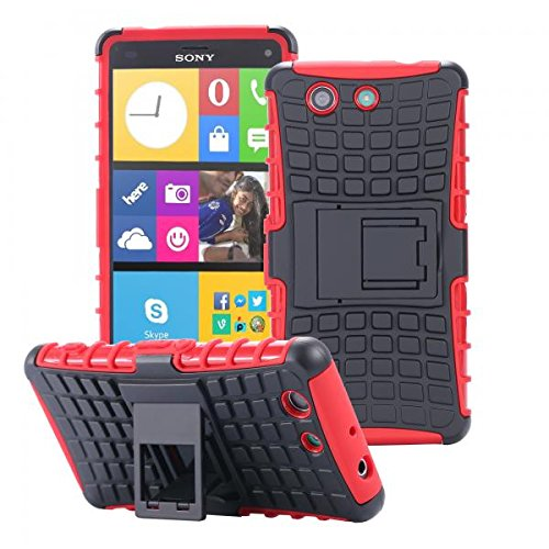 ECENCE Handyhülle Schutzhülle Outdoor Case Cover kompatibel für Sony Xperia M4 Aqua Handytasche Rot 22030302
