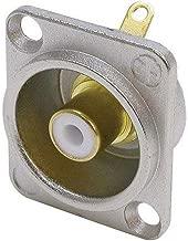 Neutrik nf2d-9RCA Jack Conector de Color Blanco/níquel