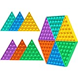 6 Pack Triangular Push-pop Bubble Sensory Fidget,Multi-Combination Multi-Player Stress & Autism Relieve Anti-Anxiety Intelligence Toys Educational Toys for Home School & Office