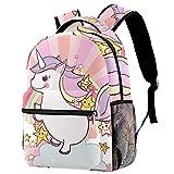 Mochila Escolar para Niño y Adolescente Grandes Mochilas para Portátiles y Netbooks Moda Bolsa para Mujer Viaje Unicornio Animal