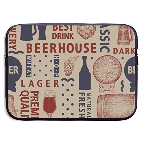 The Best Drink Beerhouse 13/15 Inch Laptop Sleeve Bag for MacBook Air 11 13 15 Pro 13.3 15.4 Portable Zipper Laptop Bag Tablet Bag,Water Resistant,Black