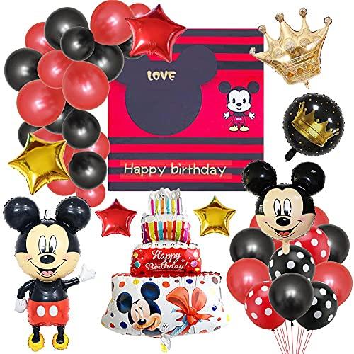 Minnie Forniture per Feste, Palloncini Minnie Decorazioni per Feste di Compleanno a Tema Minnie Girl Decorazioni Palloncino Compleanno per Bambino Compleanno, Baby Shower, Feste, Decorazioni