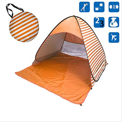 DYGZS tent Beach Tent Ultralight Folding Tent Pop Up Automatic Open Tent Family Tourist Fish Camping Anti-uv Fully Sun Shade Russian Federation Light Yellow
