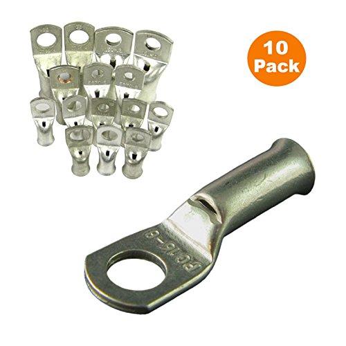 Homesmart 10 x Crimpen Oder Löten Lug Batterieklemmen für EIN 25mm² Kabel Mit 8mm Rückenloch