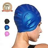 Silicone Swimming Caps for Long Hair Solid Waterproof Swim Cap for Men Women
