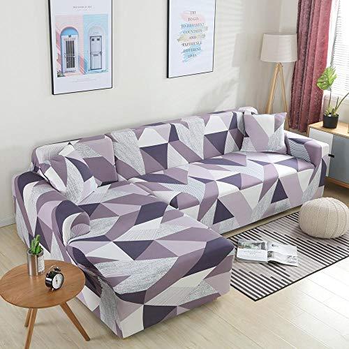 Funda de sofá elástica para sofá Necesita 2 Piezas Funda de sofá en Forma de L de Esquina para Sala de Estar Funda sofá Chaise Lounge A16 1 Plaza