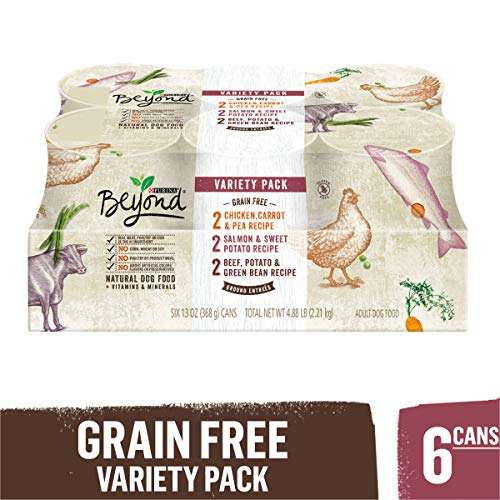 Purina Beyond Grain-Free Ground Entrees Adult Wet Dog Food Variety...