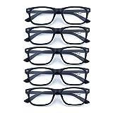 Gafas de Presbicia con Filtro Anti Luz Azul para Ordenador Gafas Graduadas de Lectura para Hombre y Mujer con Cristales Anti-reflejantes,+2.50