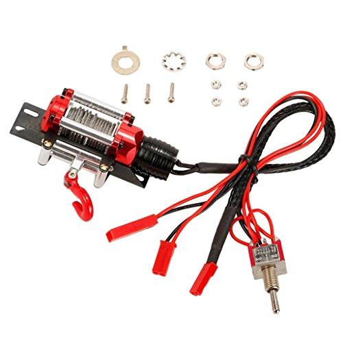 F Fityle Chasis de Ajuste de Cabrestante de Metal de Repuesto para D90 1/10 Coche de Control Remoto
