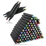 HLZDH 80 Couleurs Marker Pen marqueurs à Double Pointes, Marqueur Crayon Graphique Alcool Gras Art Deux...
