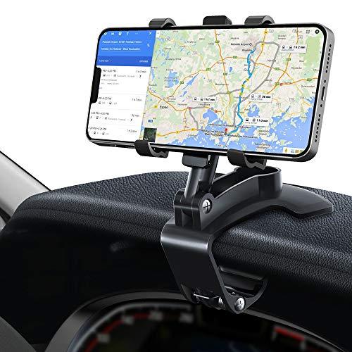 GESMA Soporte Móvil Coche, Soporte de Teléfono Móvil Universal para Salpicadero y Parabrisas, con Ventosa de Silicona Antideslizante y Fijador Antivibración, para 4.0-7.0 Pulgadas Smartphones