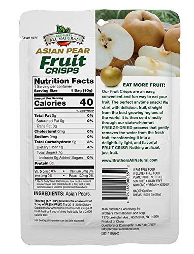 Brothers-ALL-Natural Fruit Crisps, Asian Pear, 0.35 Ounce (Pack of 24) 5