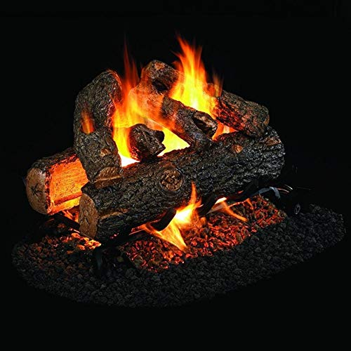 Best Deals! Peterson Real Fyre 30-Inch Golden Oak Designer Plus See-Thru Gas Log Set with Vented Nat...