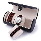Orologio da polso cilindrico 3-bit / orologio, pacchetto di borsa a mano / bagaglio a mano con cinturino in pelle, decorazione della casa, regalo di festa