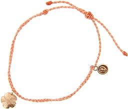 Pura Vida Bitty BB Hibiscus Charm Bracelet - Plated Charm, Adjustable Band - 100% Waterproof