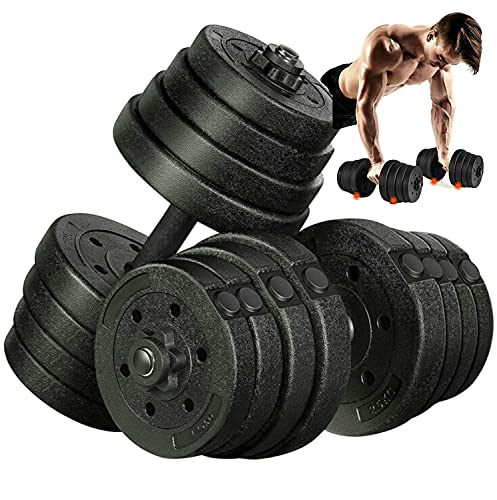 Dumbbells Set- 30KG/2x15KG Adjustable Dumbbells Weights Set for Men and Women, Hand Dumbbell Weights-5/10/15/20/30KG Free Home Gym for Strength Training Weight Lifting Exercise (Sold as a Pair)