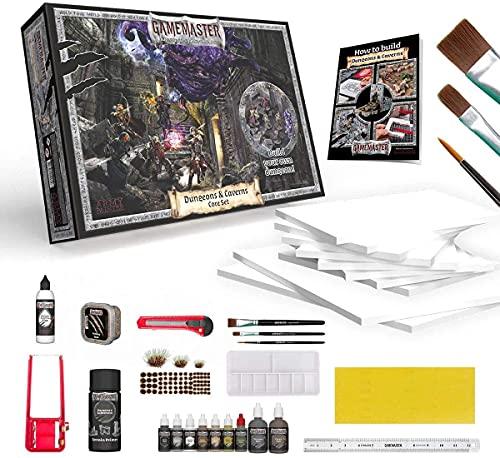 The Army Painter   Gamemaster: Dungeons & Caverns Core Set   Juego para principiantes de construcción de mazmorras y terrenos   con herramientas   tablero de espuma y guía para juegos de rol