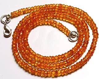 Jewel Beads Natural Beautiful jewellery 1 Strand Natural 16.5 inch Orange Garnet Natural Gemstone Spessartine Faceted Rondelle Beads Necklace Very Rare Orange Garnet 3 To 3.5 MMCode:- BB-4062