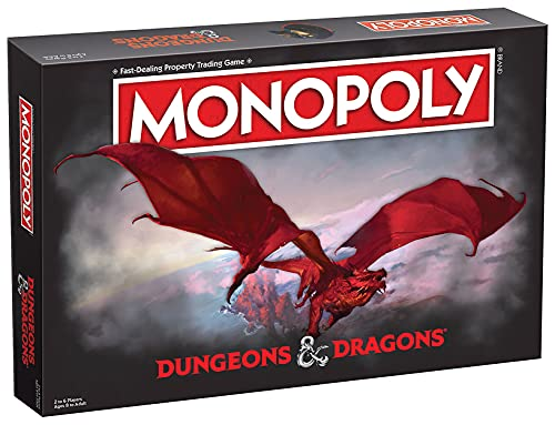 Monopoly Dungeons & Dragons | Collectible Monopoly Featuring Familiar Locations and Iconic Monsters from The D&D Universe