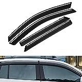 TUTU-C 4 piezas para BMW X1 2016 2017 2018 de plástico ABS viseras de ventana toldos de lluvia deflector de sol protector de ventilación cubierta protectora estilo coche