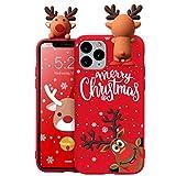 Yoedge Funda para Huawei P9 Lite 5.2 Pulgadas Rouge Silicona Carcasa de telefono Suave TPU de Dibujos Animados de 3D Navidad Muñeca Bumper Case Cover para Huawei P9Lite Cárcasa Fundas,Ciervo