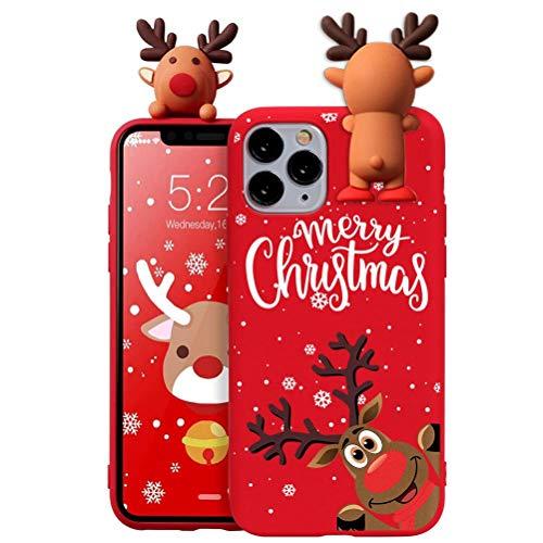 Yoedge Funda para Xiaomi Redmi Note 3/ Redmi Note 3 Pro 5.99″ Rouge Silicona Carcasa de telefono Suave de Dibujos Animados de 3D Navidad Muñeca Bumper Case Cover para RedmiNote3 Cárcasa Fundas,Ciervo