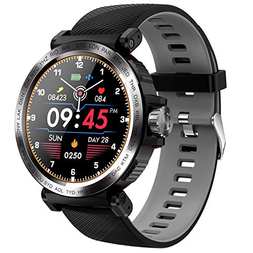 Ake Smart Watch IP68 Reloj Deportivo a Prueba de Agua Monitoreo de Ritmo cardíaco Reloj Inteligente para iOS Android,B