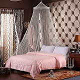 KRISMYA White Mosquito Bed Net Large Screen Netting Bed Canopy Circular Curtain/Keeps Away Insects & Flies for Home & Travel