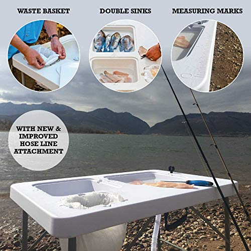 Product Image 1: Coldcreek Outfitters Outdoor Washing Table, Sink, Portable and Foldable, Large Dual-Sink Design