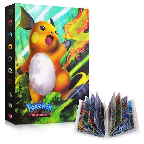 Sinwind Pokemon Album Classeur, Classeur pour Pokemon, Albums pour Cartes à Collectionner, GX EX boîte 30 Pages Peuvent Contenir 240 Cartes PokéMon Carte (Raichu)