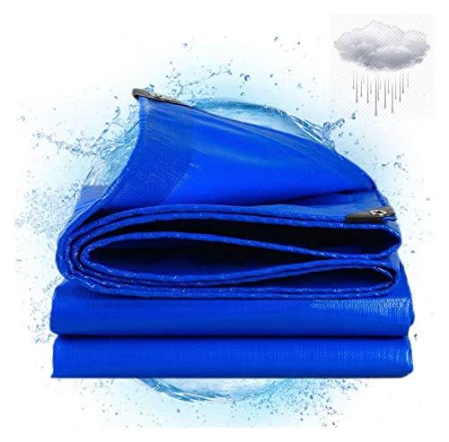 ZSEFV Heavy Duty Waterproof Tarp Tarps Heavy Duty Waterproof Cover, 13.7mil Multi-Purpose Thick Poly Tarpaulin with Grommets, Plastic Waterproof Poly Tarp Cover for Tent Boat RV Pool