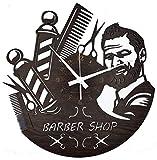 Instant Karma Clocks Orologio da Parete Barber Shop Barbiere Parrucchiere Barba Salone Bellezza, Marrone Scuro