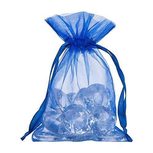 takestop® zak 50 stuks blauw organza 5 x 14 cm snoepjes bruiloft verjaardag rijst confect cadeau