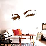 Tatuajes de pared Hermosos ojos encantadores Pestañas Guiño Decoración Arte de la pared Mural Calcomanía de vinilo Pegatinas Diseño de interiores Dormitorio Etiqueta