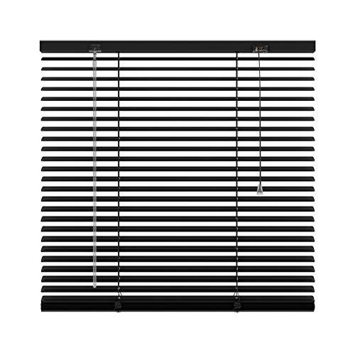 BloomTheRoom Raamdecoratie Mat zwarte Aluminium Jaloezie 25mm Lichtdoorlatend 180x180 Centimeter