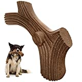 Als Ellan Indestructible Dog Toys for Aggressive Chewers, Durable Teething Chew Toys, Real Beef Flavor Tough Stick Toy for Medium Large Breed Dogs