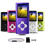 Btopllc MP3 Player MP4 Player Digital Music Player 16GB Internal Memory Card Portable