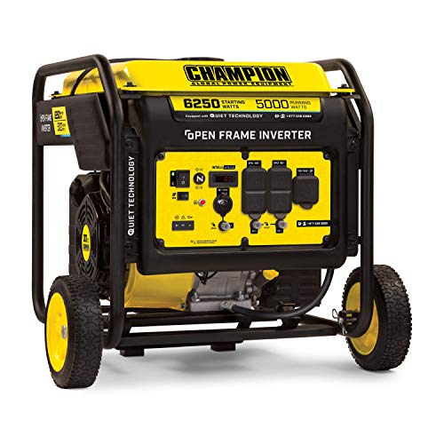 Champion Power Equipment 100519 6250-Watt Open Frame Inverter with Quiet Technology $750.54