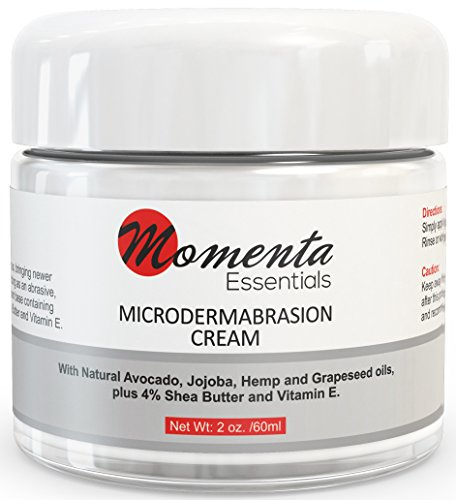 #1 Microdermabrasion Cream Scrub - Best Face Cream Exfoliating Treatment - Natural - At Home Cream - Removes Dead Skin Cells – Minimizes Pores – Fine Lines - Acne Scars – Blackheads – Anti Aging – Contains Jojoba oil – Shea butter –Vitamin E. Paraben Free - 'Peace Of Mind' Guarantee!