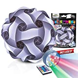 GEOSPHERE 30 pc White Puzzle Lamp Kit Complete with Wireless LED Light (12' White Puzzle Lamp)
