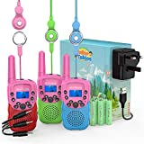 Wishouse Kids Walkie Talkies 3 Pack Rechargeable with Charger and Battery, Fun Walky
