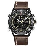 Digital Watch Men Waterproof Leather Strap Waches for Men Sport Military Multi-Function Wristwatch