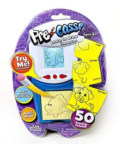 Top Secret Toys PreCasso Aprende a dibujar línea por línea | Tutorial LCD electrónico Cargado con 50 imágenes! | ¡Crece de PreCasso a Picasso!