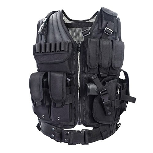 Yakeda Tactical CS Field Training Vest Adjustable for Adults Outdoor Ultralight...