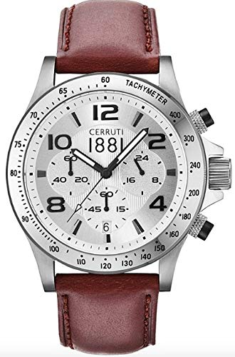 Cerruti Herren Armbanduhr Braun CRA101A213G